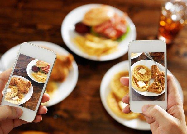 comida y foto
