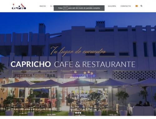 Web Restaurante Capricho